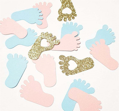 Blues, diysupplie, babyfootprintconfetti, Box