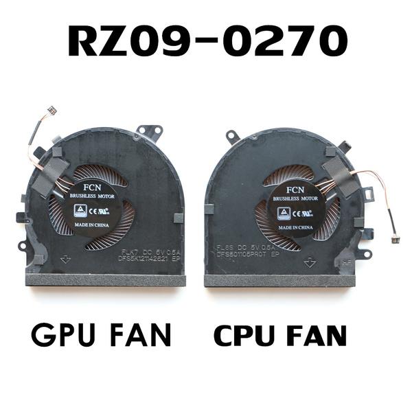 New CPU+GPU Cooling Fan Replacement for Razer Blade 15 RZ09-0270 RZ09-027 GTX 1060 DFS5K121142621 DFS501105PROT