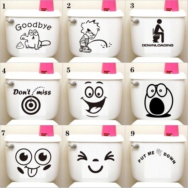 PVC wall stickers, Funny, Bathroom, bathroomsticker