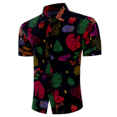 Summer, Plus Size, beachshirtsformen, Shirt