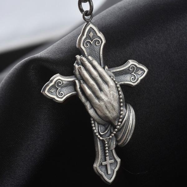 Christian, Cross necklace, Jewelry, Elegant