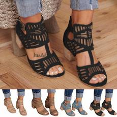 Summer, Sandals, Women Sandals, Buckles