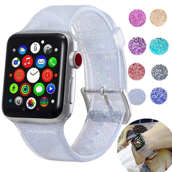strapforapplewatch, Apple, Shiny, Silicone