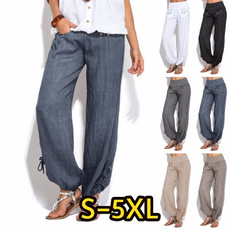 Summer, harem, elastic waist, Casual pants