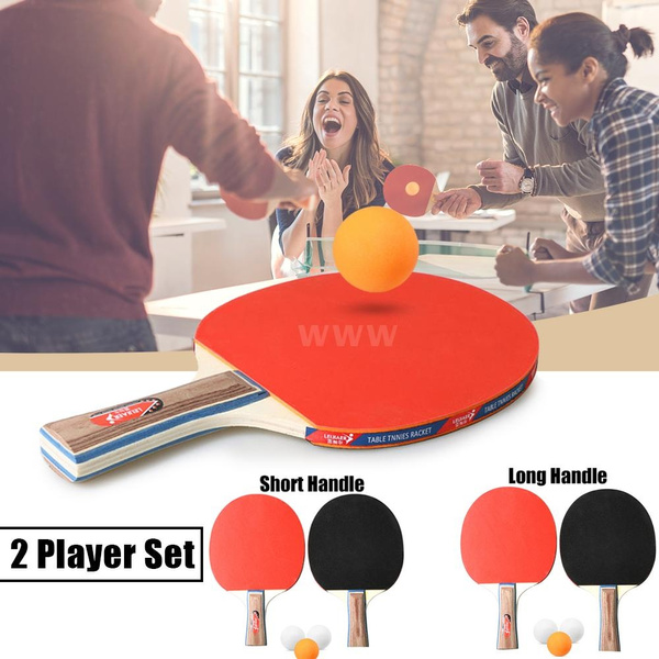 Table Tennis 2 Player Set 2 Table Tennis Bats Rackets with 3 Ping Pong Balls
