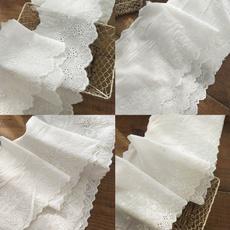 cottonlacetrimribbon, Ivory, Lace, flowerlacetrim