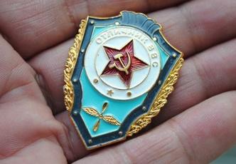 Antique, lapel, medals, soviet