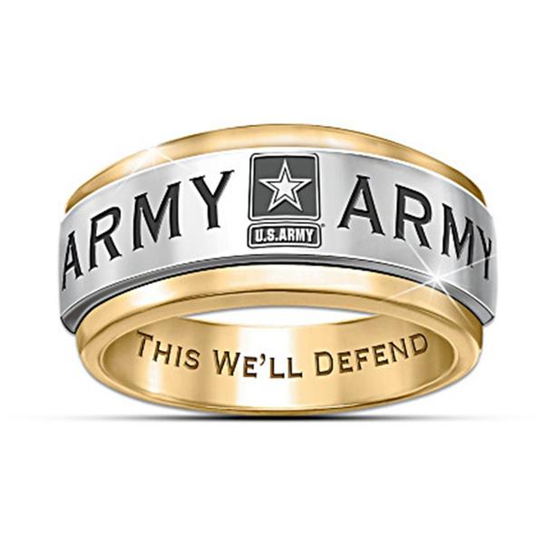 unitedstatesarmy, Jewelry, gold, Army