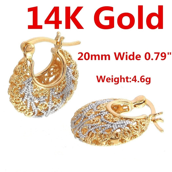 yellow gold, White Gold, Hoop Earring, Jewelry