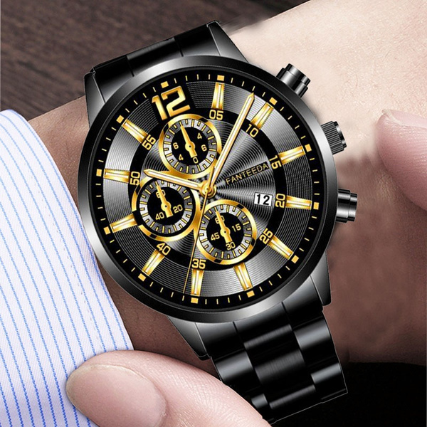 Steel, Stainless, Men Business Watch, watches for men
