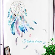 colorfulfeather, wallstickerforlivingroombedroomhomedoor, art, Colorful