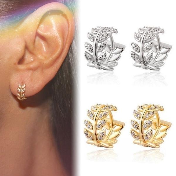 Sterling, Crystal, Hoop Earring, Jewelry