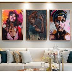 Decor, Woman, living room, art