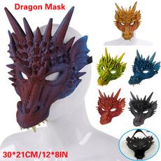 dragoncostume, 3ddragonmask, Carnival, Cosplay Costume