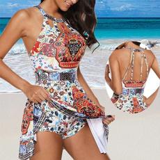 bathing suit, printedswimsuit, Fashion, women beachwear