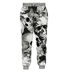 womenmen3dtrouser, Fashion, skull, pants