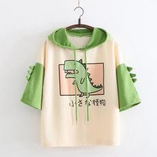 cartoon sweaters, blousewithhood, cutesweater, Sleeve