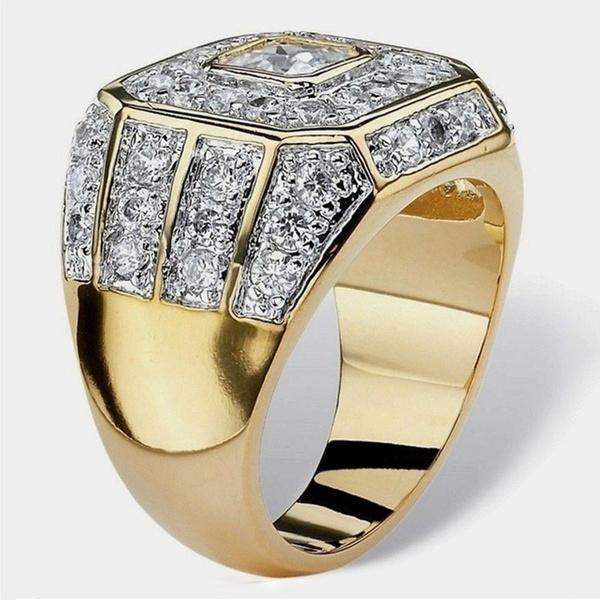 Fashion, gold, Engagement Ring, Men