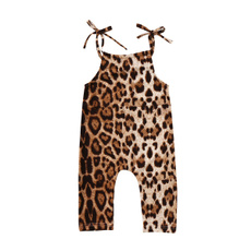 Baby Girl, baby clothing, slingleopardjumpsuit, leopardromper