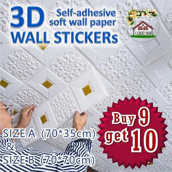 flowerwall, Home Decor, Stickers, Wallpaper