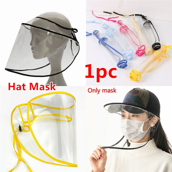 hatcover, transparentmask, Fashion, dustproofcover