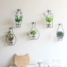 Plants, hangingflowervase, Bottle, ironframevase