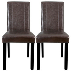 brown, Kitchen & Dining, leather, parsonchair