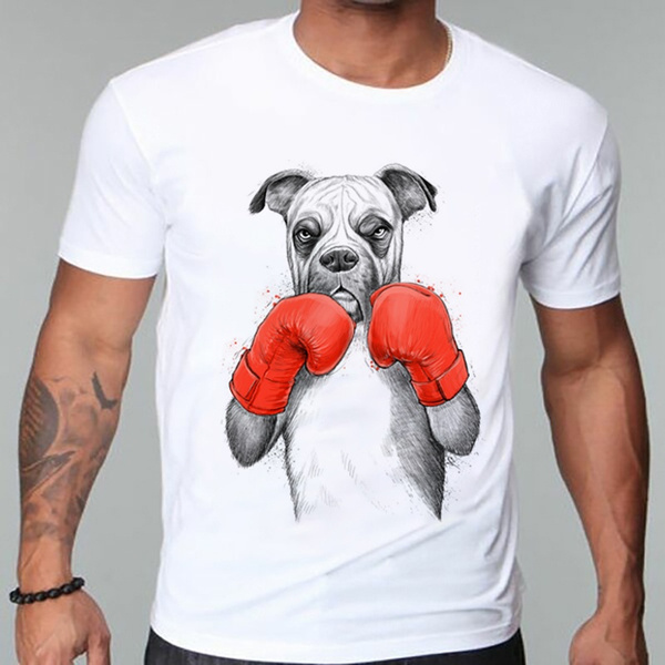 wodceeke Mens Casual Summer Lovely Boxing Cat Print Crew Neck Sleeveless Tops Blouse Sports Household Blouse