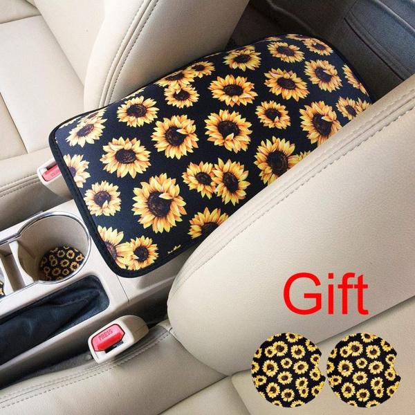 armrestcoverlatch, Console, carcushion, Sunflowers