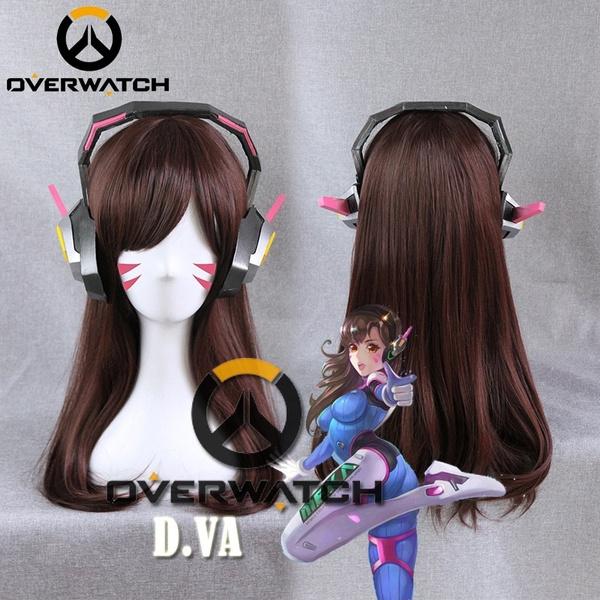 wig, overwatch, Cosplay, airbang
