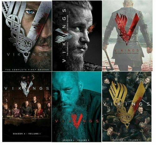 Vikings The Complete Series Seasons 1 5 Dvd Popular American Tv Series Movies Poster Wish