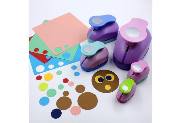 DIY Craft Kids Scrapbook Paper Circle Flower Cartoon Hole Colorful Punch L3Y9