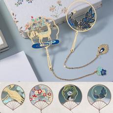 brasstasselbookmark, bookclip, retrobookmarker, Chinese