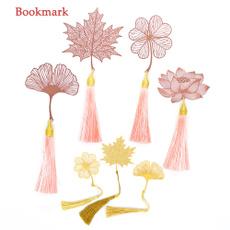 goldbrassbookmark, bookclip, retrobookmarker, leaf