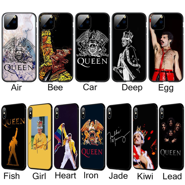 LXY115 Queen Freddie Mercury Soft Silicone TPU Case for iPhone/Samsung Cover for Apple 5/5s/se/6/6s/6 plus/6s plus/7/7 plus/8/8 plus/X/Xs/XR/XS ...