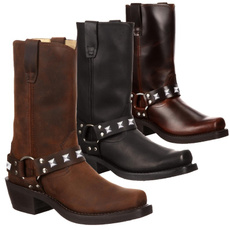 casual shoes, vintageboot, Plus Size, Leather Boots