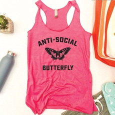 butterfly, Summer, Vest, Fashion