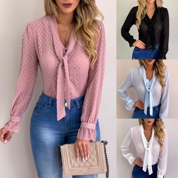 blouse, bowknot, Fashion, Shirt