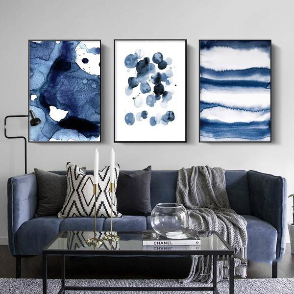 Blues, Pictures, Decor, Modern
