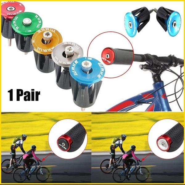 1 Pair Road MTB Bike Handlebar Bar Cap End Grip Bicycle Handle Plug Cover New