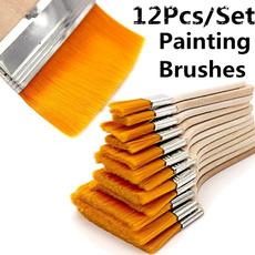 art, oilpaintingbrush, Wooden, Tool