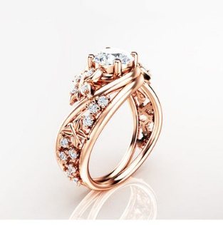 butterfly, DIAMOND, wedding ring, gold