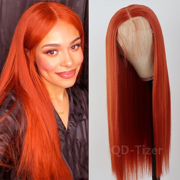 wig, Fashion, orangewig, lacefronthumanhairwig
