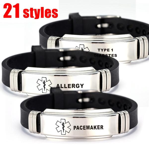 Steel, stainlesssteelband, emergencyremindbracelet, Stainless Steel