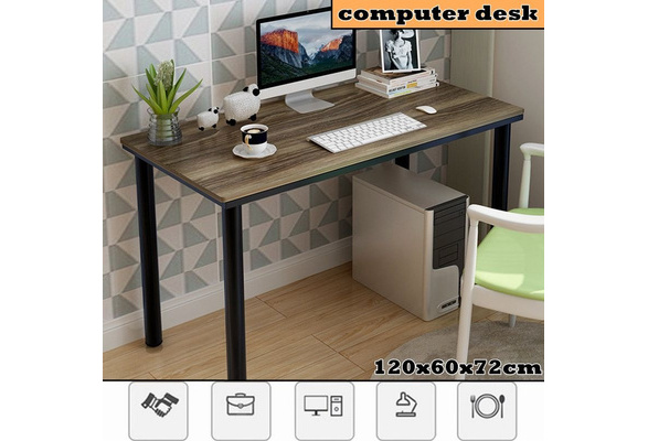 Household Steel Wood Computer Desk Pc Laptop Study Table Office Desk Workstationhousehold Computer Desk Bedroom Modern Large Office Desk Computer Table Simple Laptop Writing Table Workstation For Home Office Study 120x60x72cm Wish