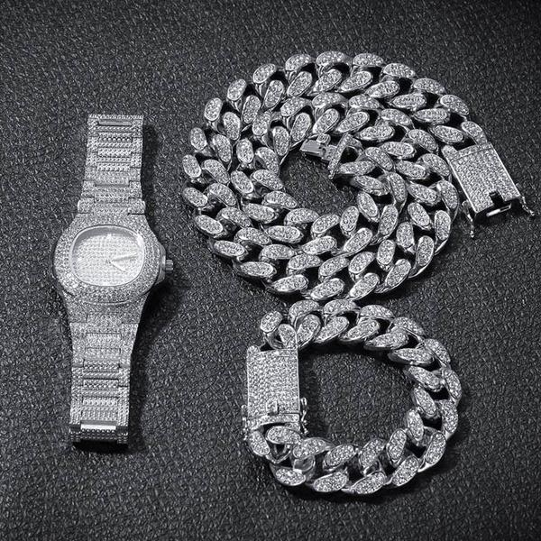 DIAMOND, icedoutchain, Jewelry, Chain