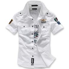 standcollarmensshirt, Shorts, Shirt, singlebreastedmensshirt