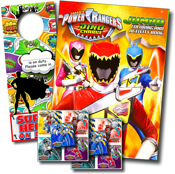 - POWER RANGERS DINO CHARGE Coloring Book And Stickers Super Set Bundle ~ Dino  Chargers Coloring Book With Power Rangers Dino Chargers Stickers &  Specialty Decal Wish
