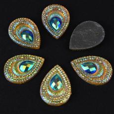 peacock, Decor, beadampbutton, eye