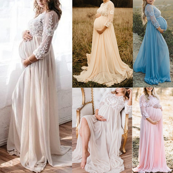 Plus Size Fashion Women Lace Maternity Gown Photography Long Maternity Photo Shoot Dress Plus Size S 5xl Wish